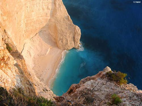 Sunset on Navagio
