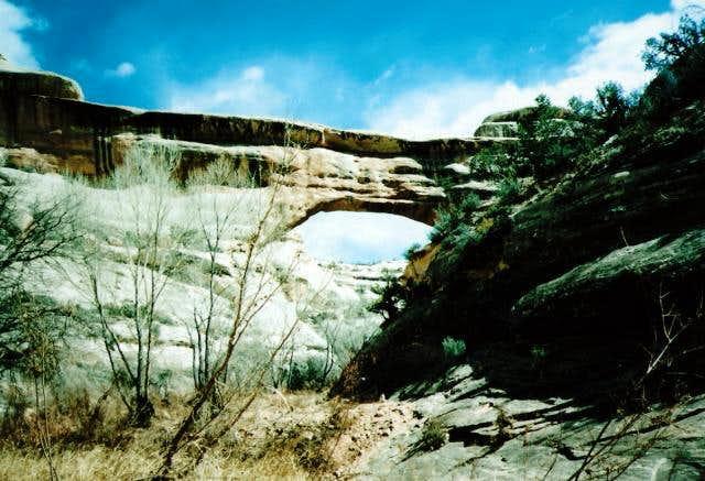 Sipapu Bridge from below