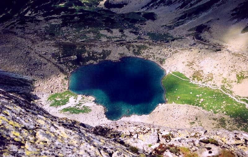 Litvorove Pleso lake from Velicky Stit