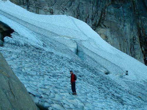 Adrien on the Vesper Glacier