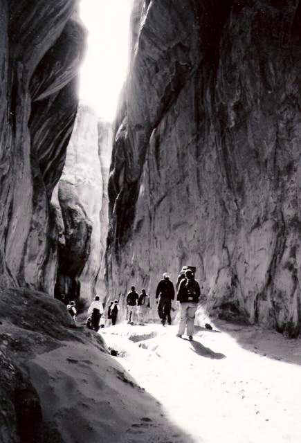 Hikers in the Fiery Furnace