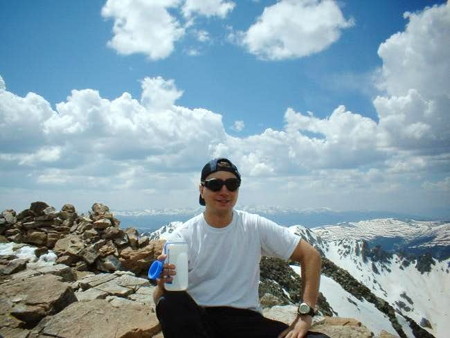 Paul and I summited Quandary...