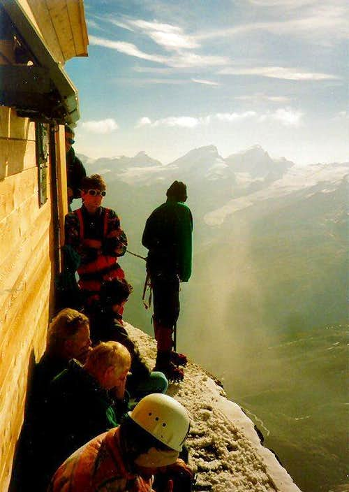 Solvay Hut: Taking a well earned rest