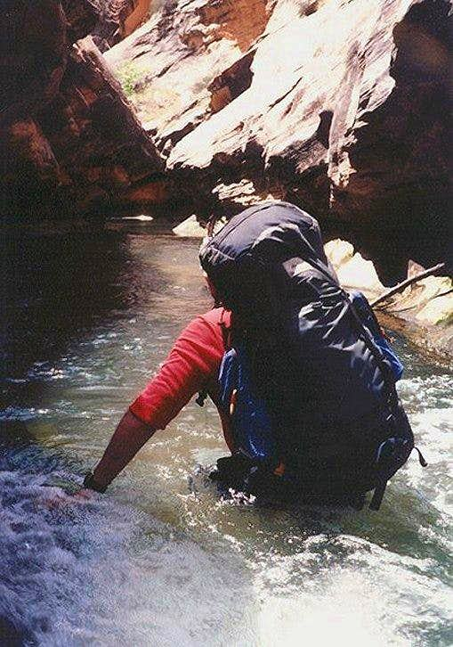 Wading a Deep Pool in The Narrows