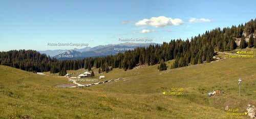 Panorama from Porta Manazzo (at north border of the Altopiano di Asiago)