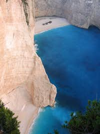 Two pearls of Navagio in sunset