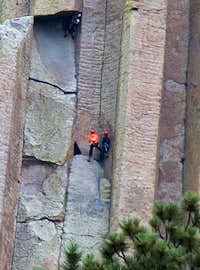 Climbers on the Tower