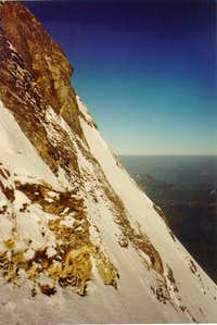 A look at the NE-face from the Mittelegi ridge