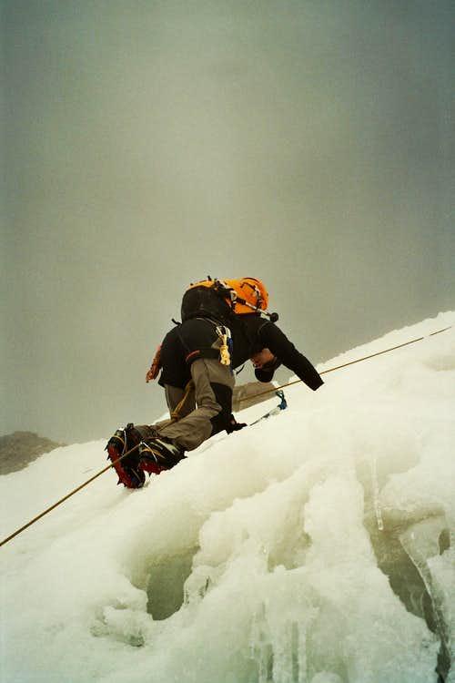 Castor final steep climb before ridge