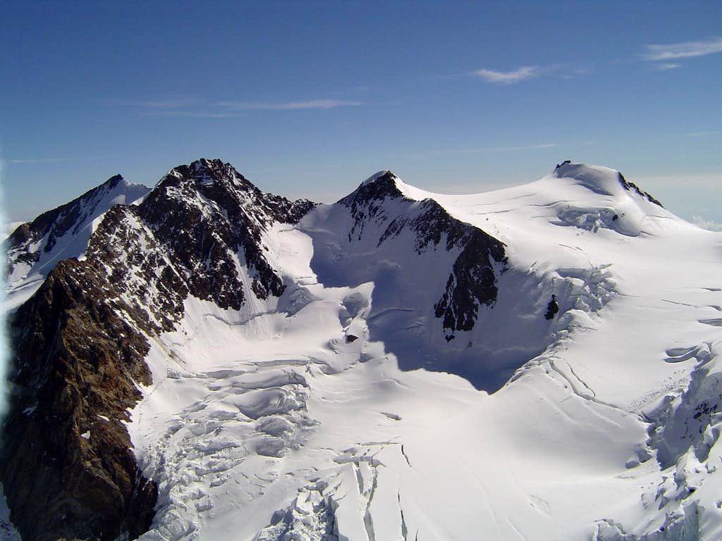 Dufourspitze, Zumstein, Signalkuppe, etc