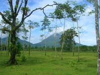 Arenal Volcanoe from horseback