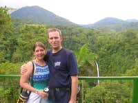 megan and I before we hiked down to the base of the falls