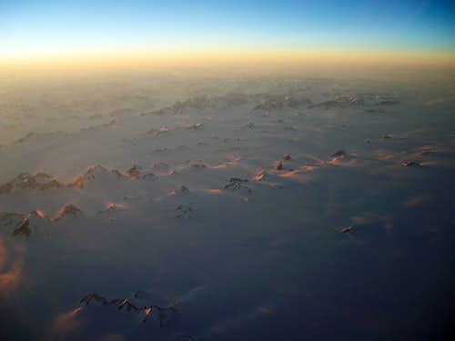 Aerial North East Arctic Canada