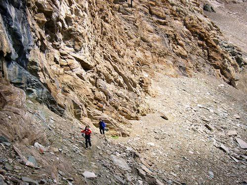 Just few meters under the Colle della Rossa