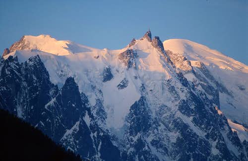 Mont Blanc group at sunrise