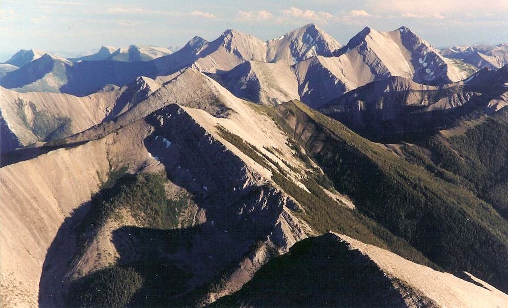 Rocky Mountain Front from Mount Wright