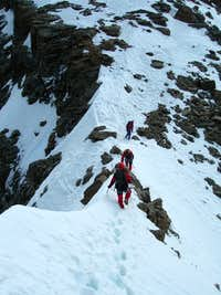 Exposed section on West Ridge
