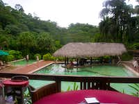 the wet bar at tabacon hotsprings