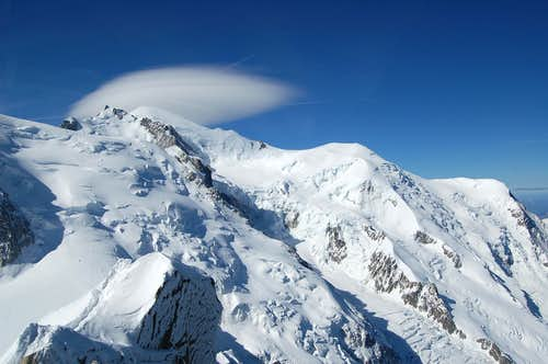 The Mont Blanc massif from Aiguiile du Midi