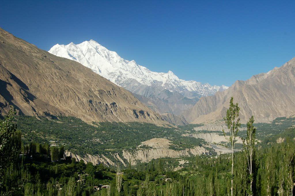Rakaposhi (7788m) from Karimabad