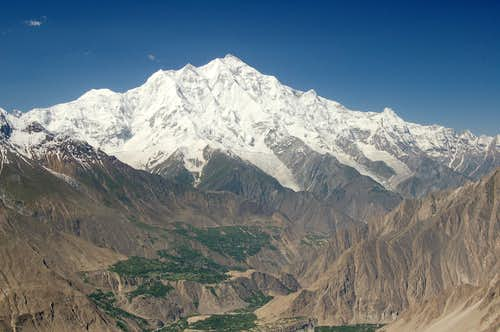 North Face of Rakaposhi from Hom Pass