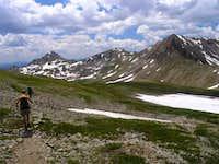 Descending down to Elkhead Pass