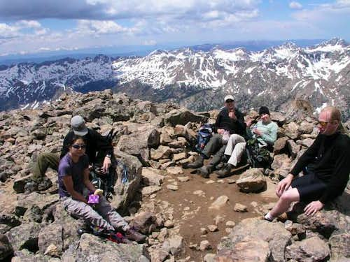 Snacking on the summit