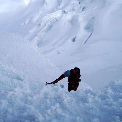 Climber on Yanapaccha