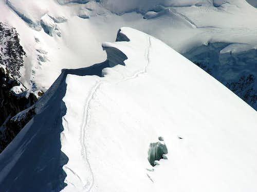 Il Breithorn centrale (4160 m) 01 settembre 2006