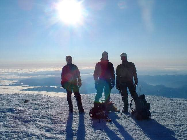 Summit at about 7 am.