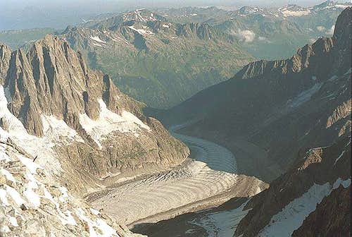 Mer de Glace from the...