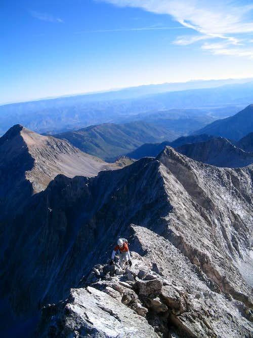 Climbing the NE Ridge