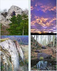 Berounka canyon - collage