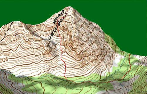 3D Topo of Climbers\' Route