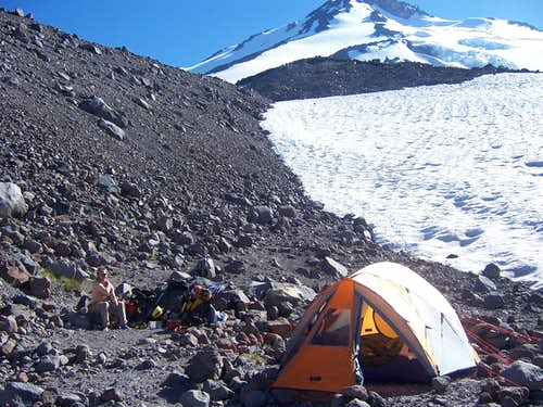 camp with fresh running water