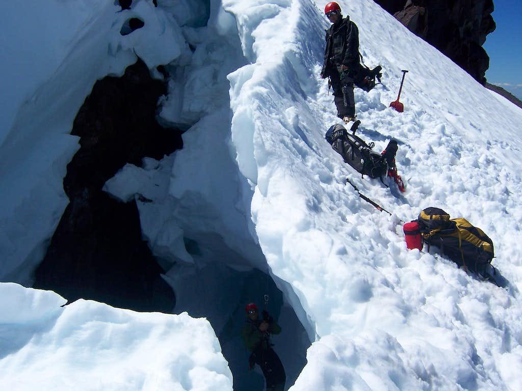 crevasse rescue practice