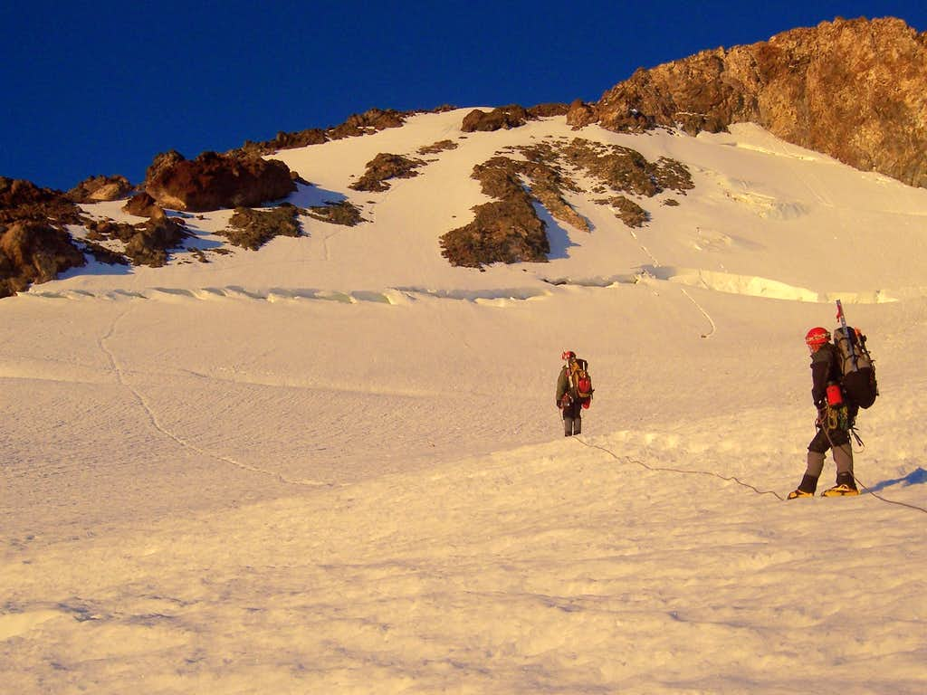 Left Ice Gully and Headwall