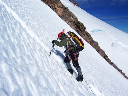 lower portion of the left ice gully