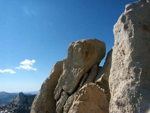 Summit block of Cockscomb...