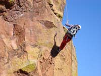 Rappelling from Friday s Folly Ledge