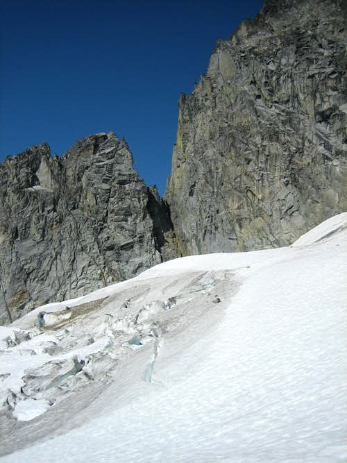 Notch on Mt. Torment's south ridge