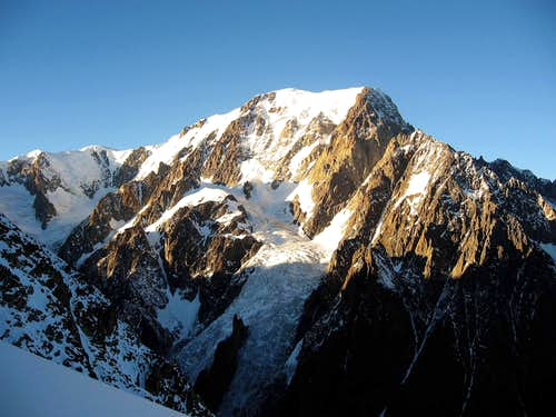 Mont Blanc west flank