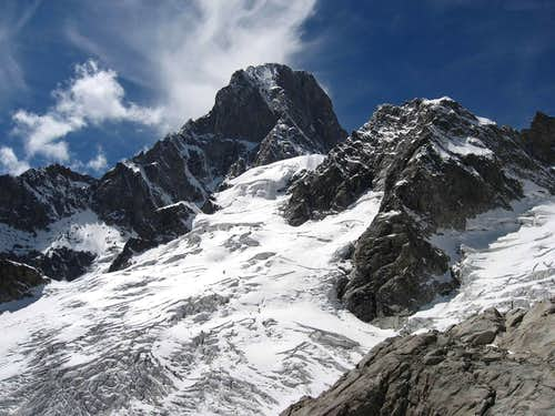 Grandes Jorasses east face and Pointes des Hirondelles.