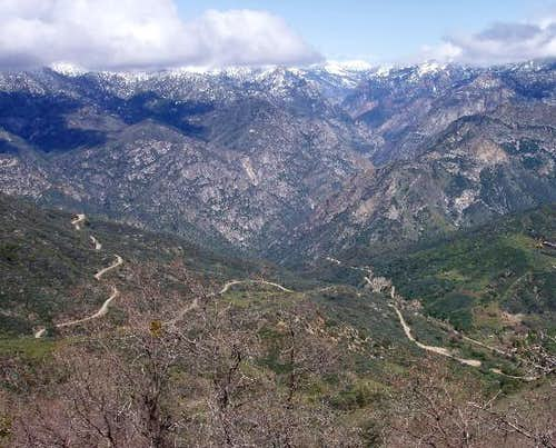 Hwy 180 winds its way into Kings Canyon