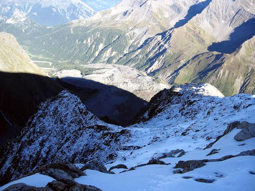 The east flanc of Petit Mont Blanc.