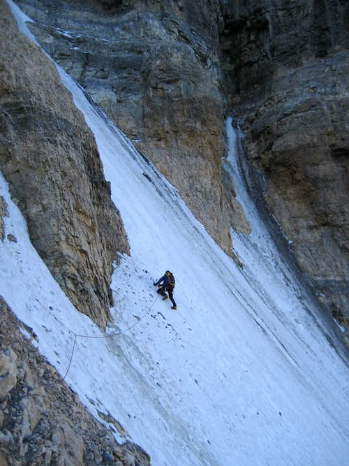 Climbing the second icefield