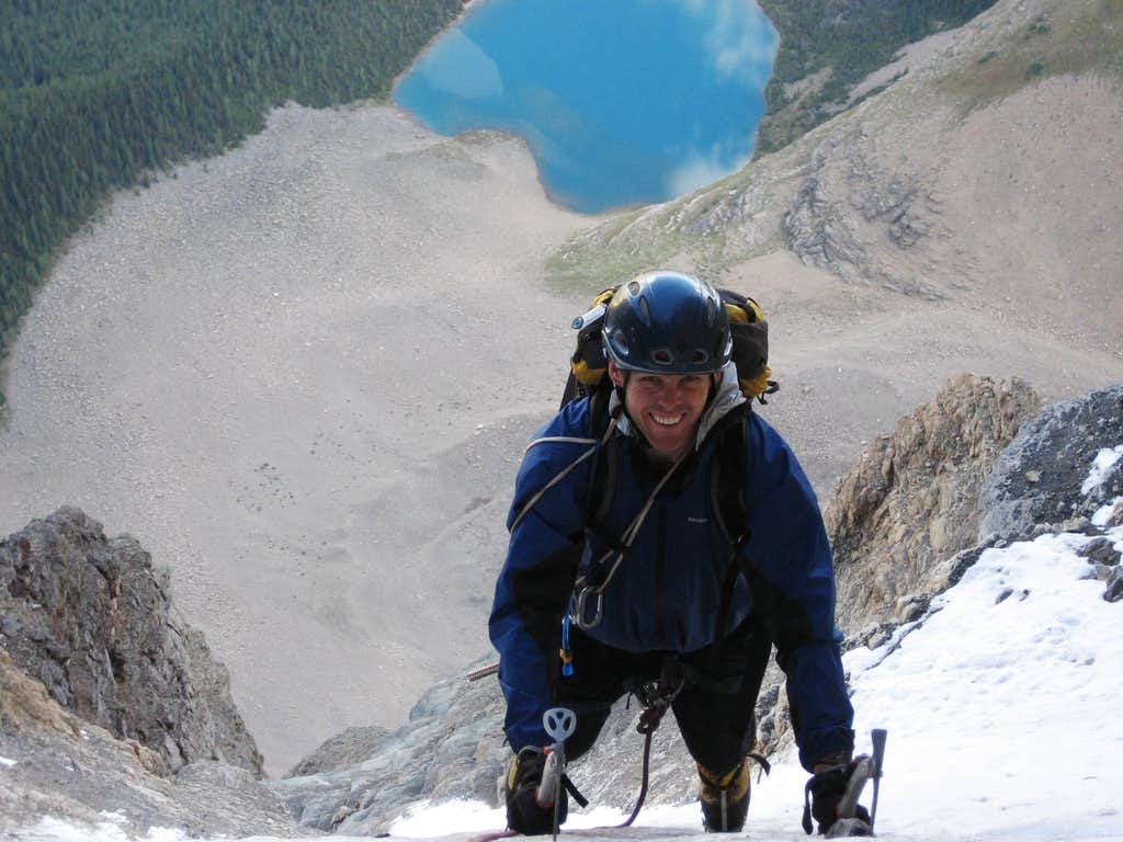 Charles at the top of the second icefield