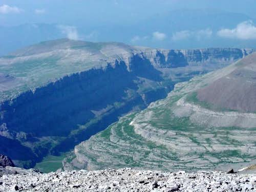 Ordesa Canyon from col of...