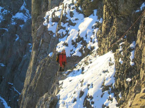 Final traverse pitch Greenwodd/Locke, North Face of Mount Temple