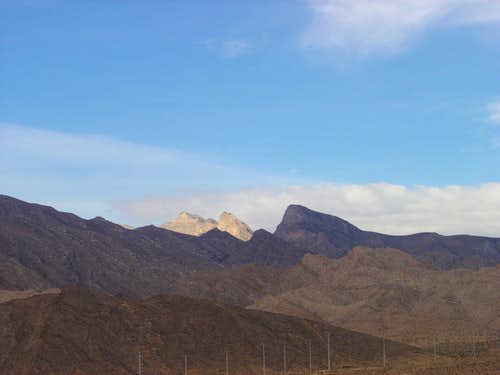 La Madre Peak and Range as seen from Lone Mountain